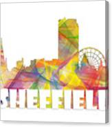 Sheffield England Skyline Canvas Print