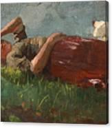 Shepherd Girl Resting Canvas Print