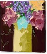 Sienna Floral Canvas Print