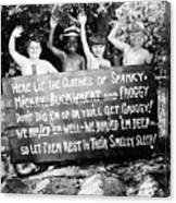 Silent Film: Little Rascals Canvas Print