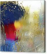 Silhouette In The Rain Canvas Print