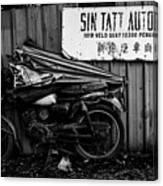 Sin Tatt Auto Works Canvas Print