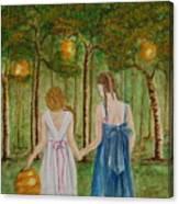 Sisters At Twilight Canvas Print