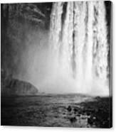 Skogafoss Waterfall In Iceland Canvas Print