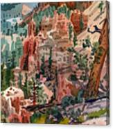 Skunk Creek Trailhead At Bryce Canvas Print