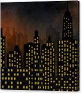 Skyscrapers - Panorama Of Modern Skyscraper Town Canvas Print