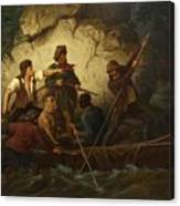 Smuggler In A Boat Canvas Print
