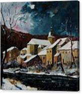 Snow In Chassepierre Canvas Print