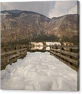 Snowy Alpine Lake Canvas Print
