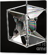 Soap Films On A Cube Canvas Print