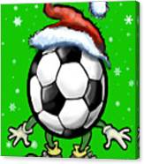 Soccer Christmas Canvas Print