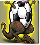 Soccer Saurus Rex Canvas Print