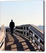 Solitary Man Walks Canvas Print