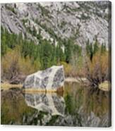 Some Beautiful Scene Of The Famous Mirror Lake Of Yosemite Canvas Print