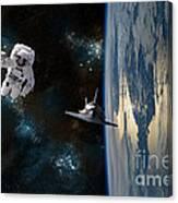 Space Rescue Canvas Print