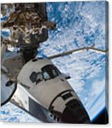 Space Shuttle Endeavour, Docked Canvas Print