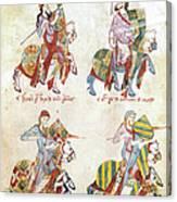 Spain: Knights, C1350 Canvas Print