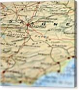 Spain Map Canvas Print