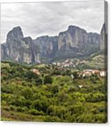 Spectacular Meteora Rock Formations Canvas Print