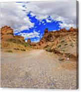 Spherical Panorama From A Canyon Charyn Canvas Print