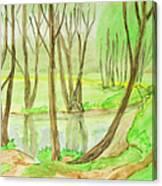 Spring Landscape, Painting Canvas Print