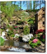 Springtime At The Old Mill Canvas Print
