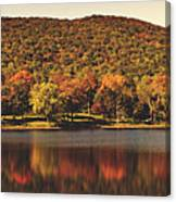 Squantz Pond In Autumn Canvas Print