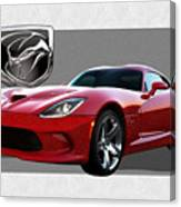 S R T  Viper with  3 D  Badge  Canvas Print