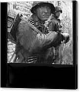 Ss Waffen Corporal Otto Funk Circa 1943 Canvas Print