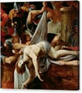 St Sebastian Thrown Into The Cloaca Maxima Canvas Print
