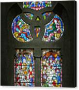 Stained Glass At The Manizales Cathedral In Colombia Canvas Print