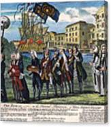 Stamp Act: Repeal, 1766 Canvas Print