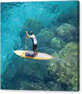 Stand Up Paddling Canvas Print