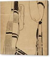 Standing Girl Canvas Print