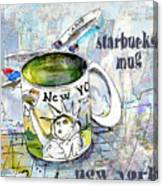 Starbucks Mug New York Canvas Print