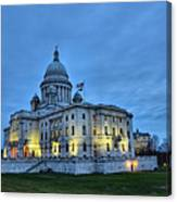 State House Night Canvas Print