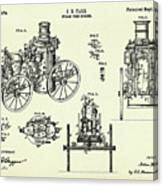 Steam Fire Engine-1896 Canvas Print