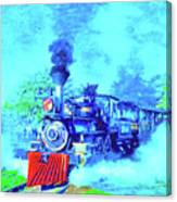 Edison Locomotive Canvas Print
