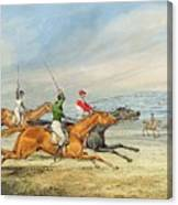 Steeplechasing Henry Thomas Alken Canvas Print