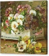 Still Life Of Flowers Canvas Print