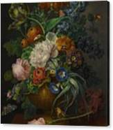Still Life Of Flowers Canvas Print