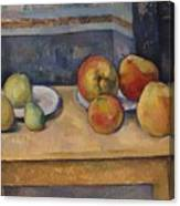 Still Life With Apples And Pears Canvas Print