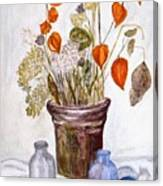 Still Life With Chinese Lanterns Canvas Print