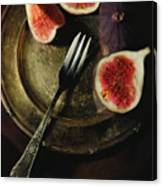 Still Life With Fresh Figs Canvas Print