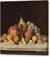 Still Life With Fruit And Nuts Canvas Print