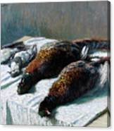 Still Life With Pheasants And Plovers Canvas Print