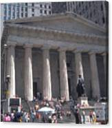 Stock Exchange On Wall Street Canvas Print