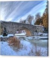 Stone Bridge At Webster Falls Canvas Print