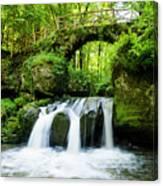 Stone Bridge Over River Canvas Print
