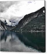 Storm In The Fiord Canvas Print